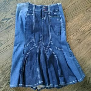 Candies mixed denim ,jean skirt